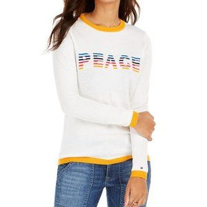 Tommy Hilfiger New Peace rainbow Sweater sz Large